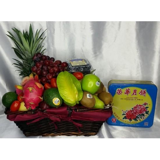 Mid Autumn Festival Fruits Hamper with MoonCake